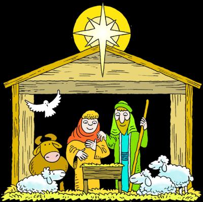 Mary Joseph Baby Jesus Manger Clipart.
