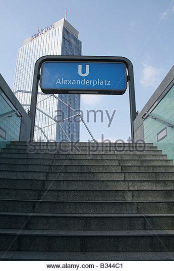 U Bahn Station Entrance Stock Photos & U Bahn Station Entrance.