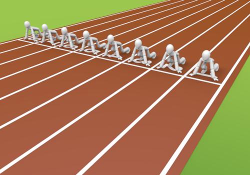 100 meter dash clipart.