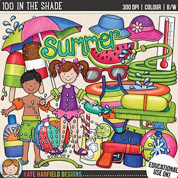 Backyard Summer Clip Art: \