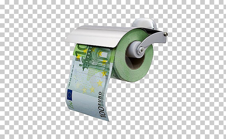 Toilet Paper 100 euro note Banknote, toilet paper PNG.
