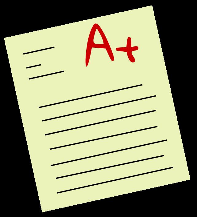 A+ Test Clipart.