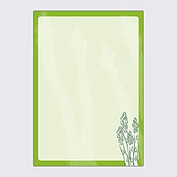 Paper Pad\'Asparagus.