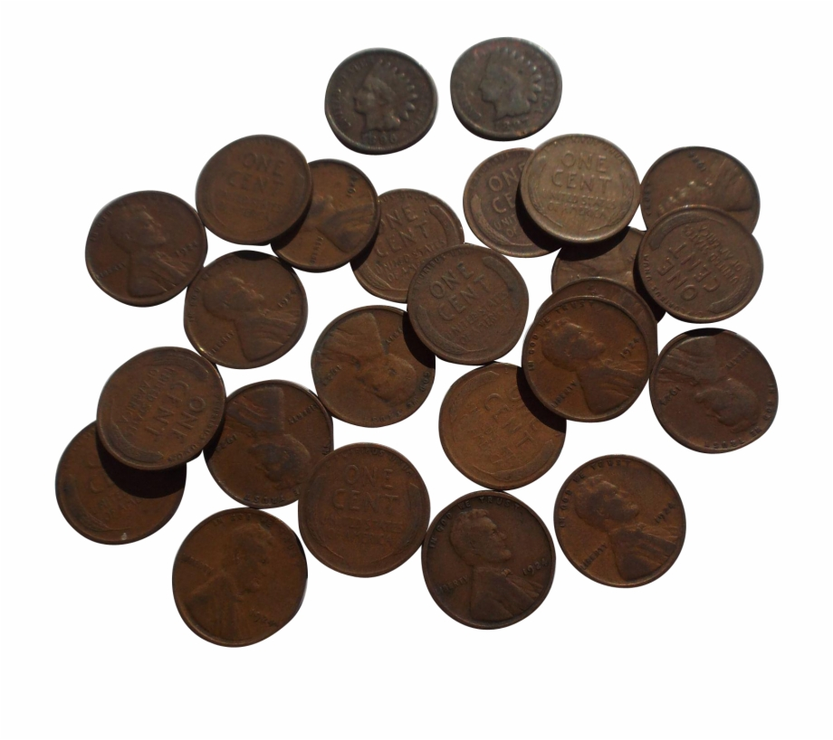 Pennies clipart single, Pennies single Transparent FREE for.