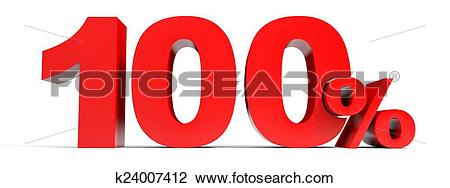 Clip Art of One hundred percent off. Discount 100%. k24007412.