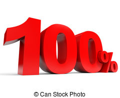 Red one hundred percent off discount 100 Clip Art and Stock.