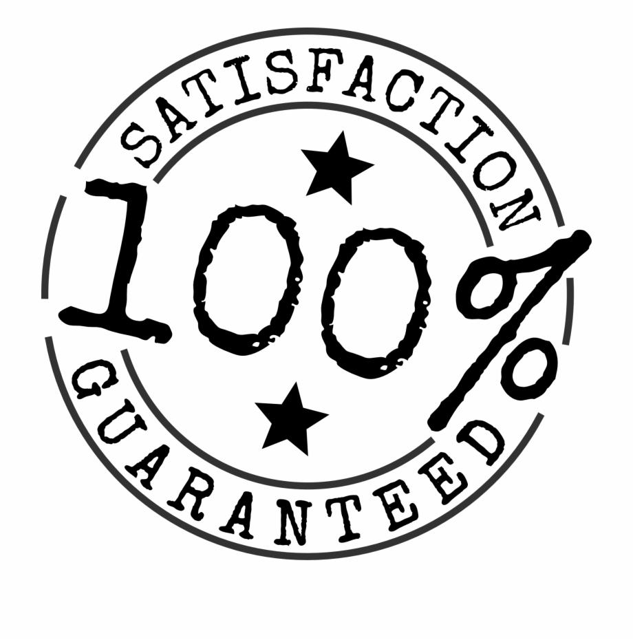 Satisfaction Guaranteed 100 Percent Stamp Clip Art.