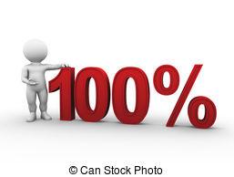 100 percent clipart #17