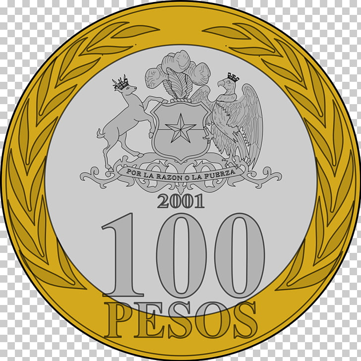 Chilean peso Currency Coin, Coin PNG clipart.