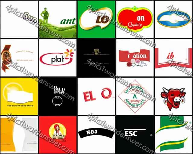 100 Pics Food Logos Level 41.