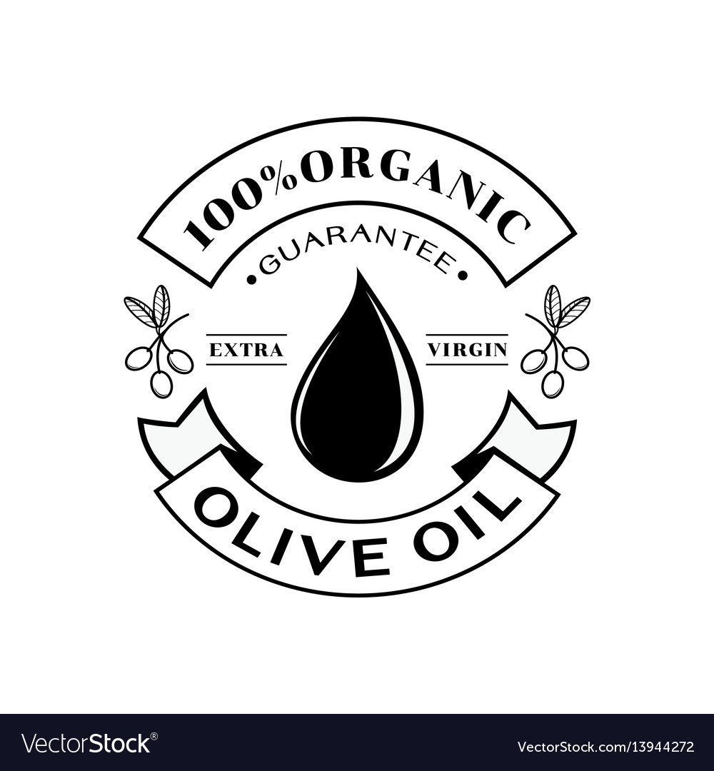 Organic olive oil 100 guarantee logo.