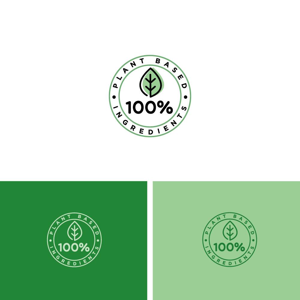Elegant, Playful Logo Design for 100% plant based or 100.