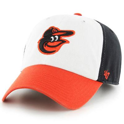 Baltimore Orioles MLB \'47 CLEAN UP Team Cap Hat Adjustable Strapback  Baseball Os.