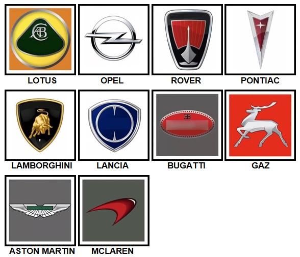 100 Pics Car Logos Level 51.