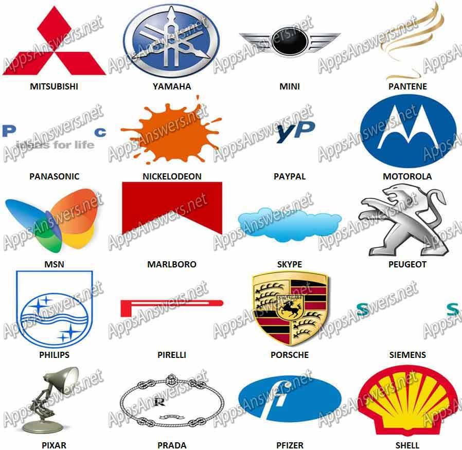 100 Pix Quiz Logos M.