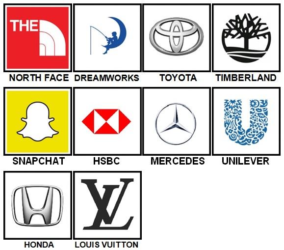 100 Pics Logos Level 51.