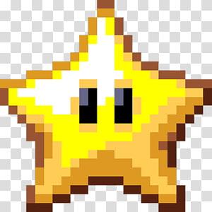 Pixel , orange star illustration transparent background PNG.