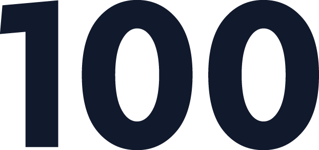 100 Number PNG.