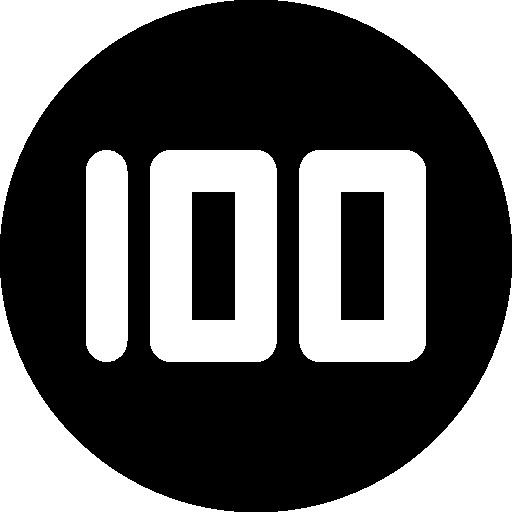 Poker chip 100 icon #43962.