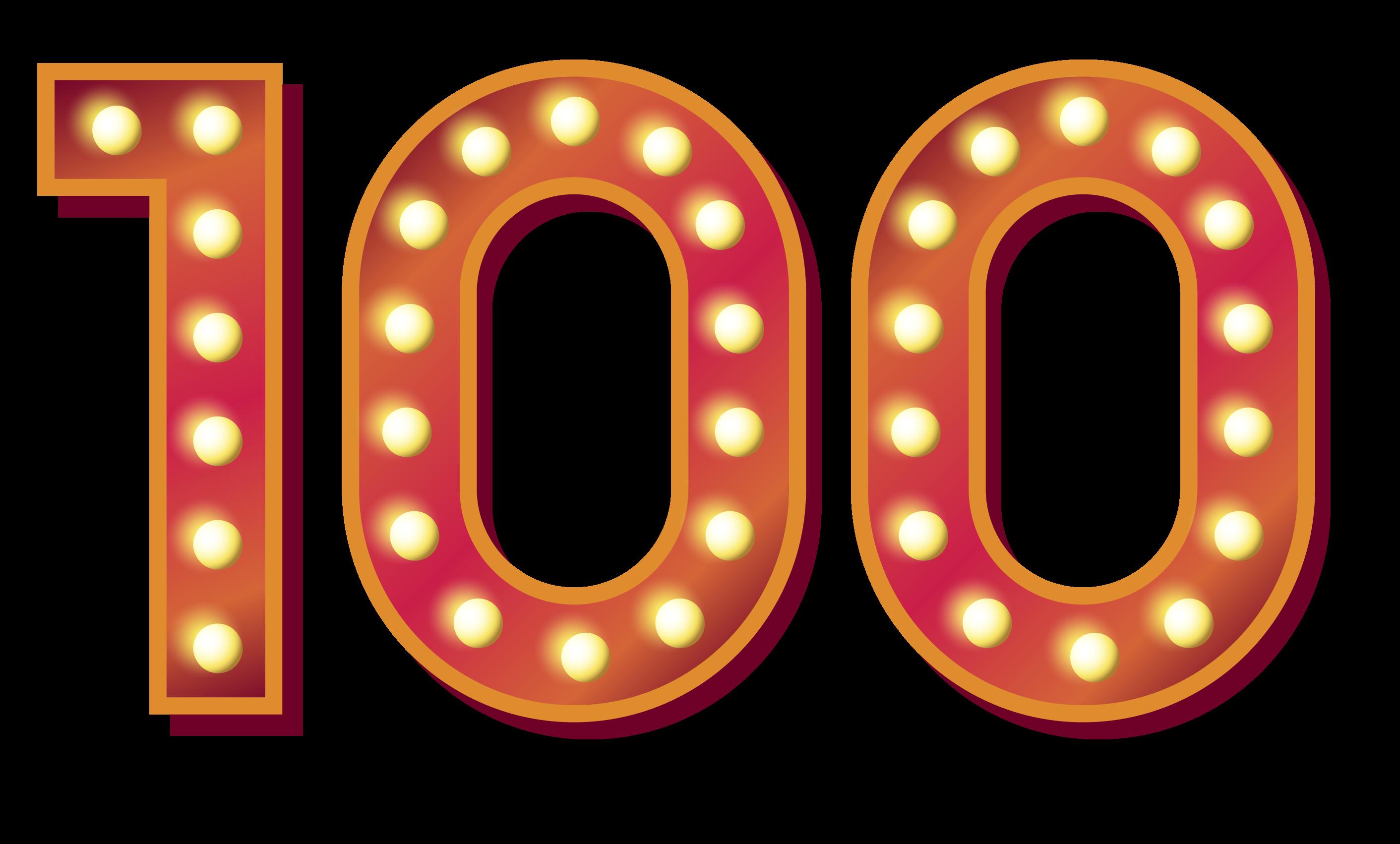 100 Number PNG Images Transparent Background.