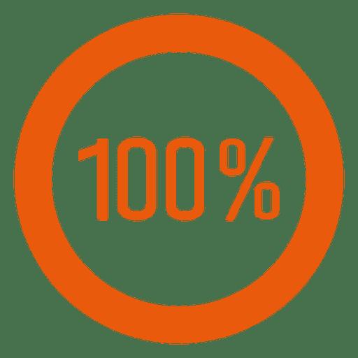 100 percent orange ring infographic.
