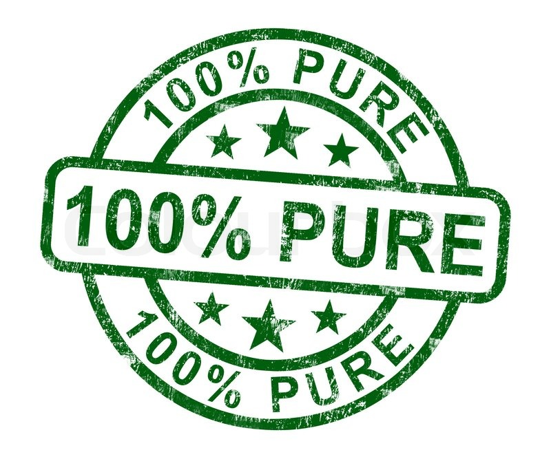 100% Pure Stamp Shows Natural Genuine.