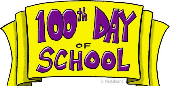 Celebrating 100 Days Of School Clipart.