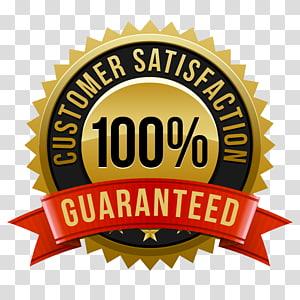100% satisfaction guarantee logo, Money back guarantee Customer.