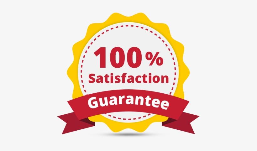 100% Satisfaction Guarantee Transparent PNG.