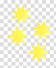 Watchers, four yellow stars illustration transparent.