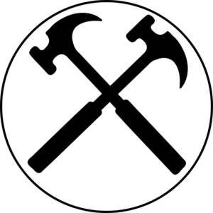 Crossed Hammers Bw 100x100 Clip Art at Clker.com.