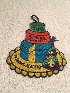 Details about Boy Scout 100 Years of Scouting For a party training academy  patch/button hanger.