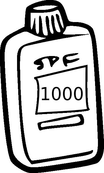 Sunscreen 1000 Clip Art at Clker.com.