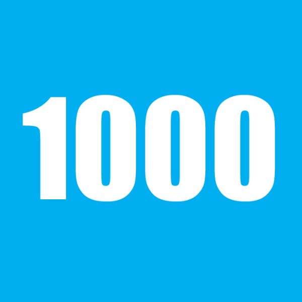 1000 number clipart.
