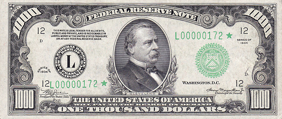 1000 Dollar Bill Clipart.
