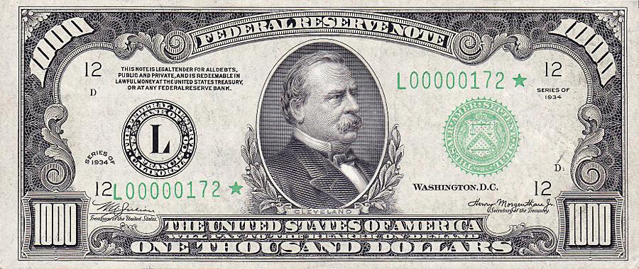 1000 Dollar Bill Clipart.