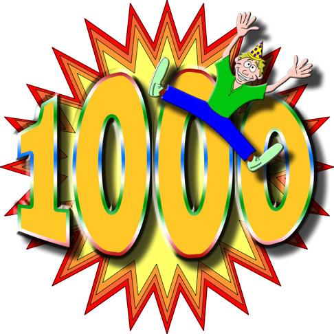Mission 1000 Accomplished!!!.