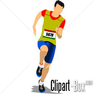 CLIPART ATHLET RUNNING.