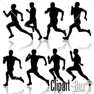 CLIPART MAN RUNNING.