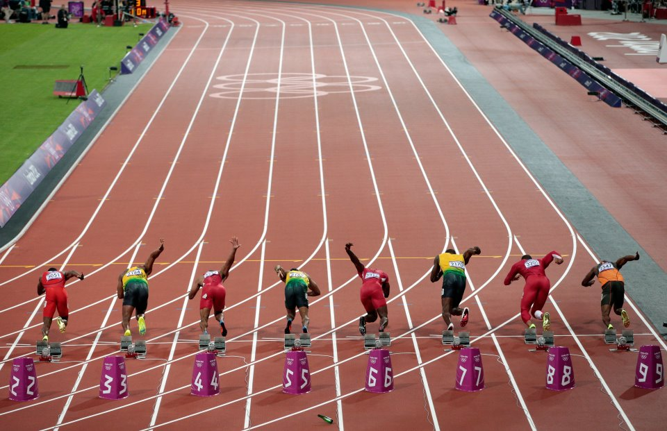 2012 Olympics, Men\'s 100m In Photos: From Start To Usain.