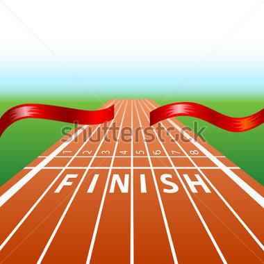 Track Finish Line Clipart.