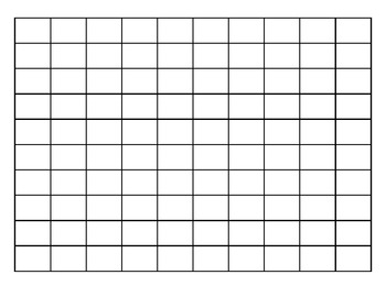 Blank Hundreds Chart (SCROLLING!).