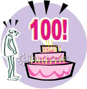A 100th Birthday Cake.