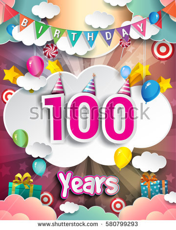 100th Birthday Clipart Clipground