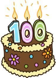 100 year birthday clipart.