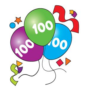 100th Day Clipart.