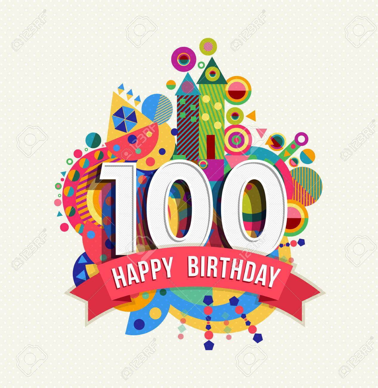 100th Birthday Cliparts, Stock Vector And Royalty Free 100th.