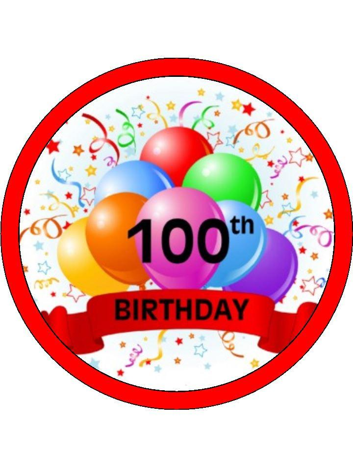 Clipart 100th Birthday.