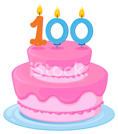 Birthday Cake Stock Vector.