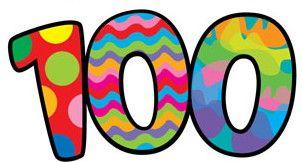 100 days smarter clip art.